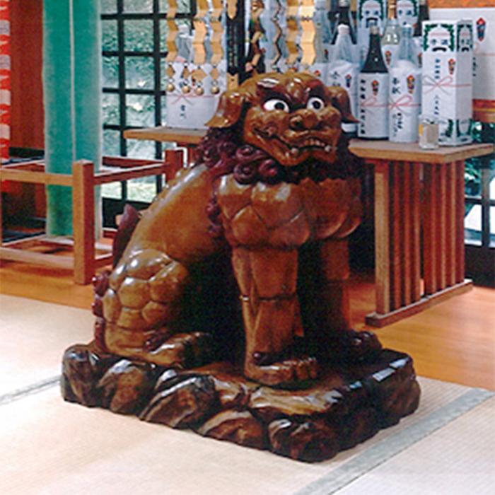 狛犬(ケヤキ製)