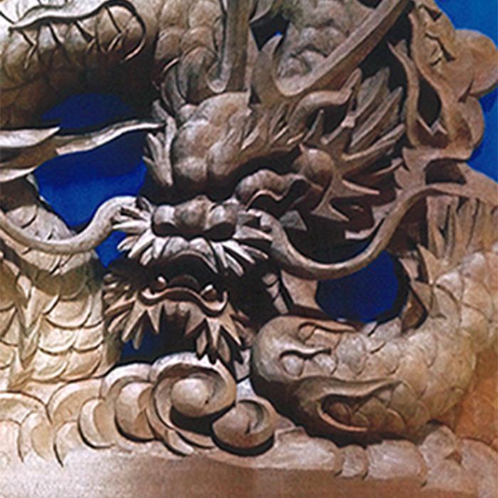 屋台彫刻(雲龍)